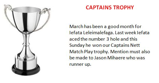Captains Trophy 2018